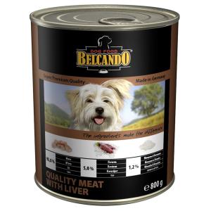 Консервы BELCANDO QUALITY MEAT WITH LIVER для собак всех пород с мясом и печенью 400гр