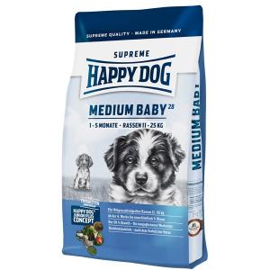 Корм сухой Happy Dog Medium Baby GR 28 для щенков средних пород с птицей 10кг