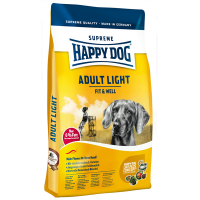 Корм сухой Happy Dog Adult Light для собак всех пород с птицей 12,5кг