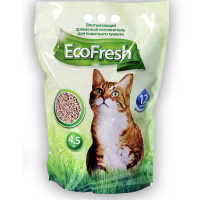 Наполнитель для кошек EcoFresh древесный 4,5кг