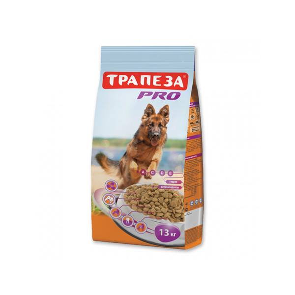 Корм сухой Трапеза для взрослых служебных и рабочих собак всех пород с мясом 13кг